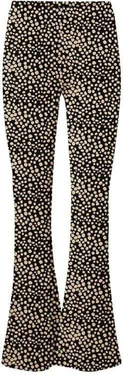 VmKamma NW Flared Jersey Print Pant Black/Nomad Dots