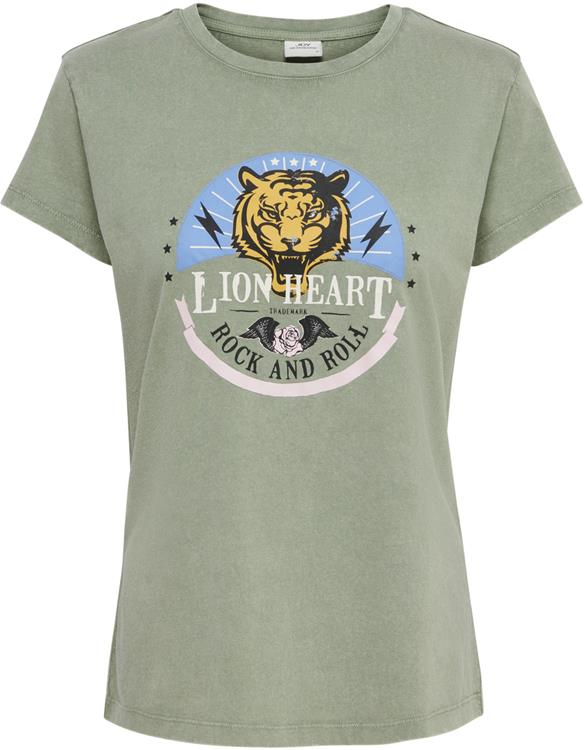 JDYFarock Life S/S Print Top JRS Sea Spray/Lion Heart