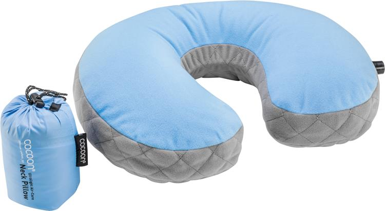 Cocoon Ultralight Air Core Neck Pillow, Light Blue Kussen