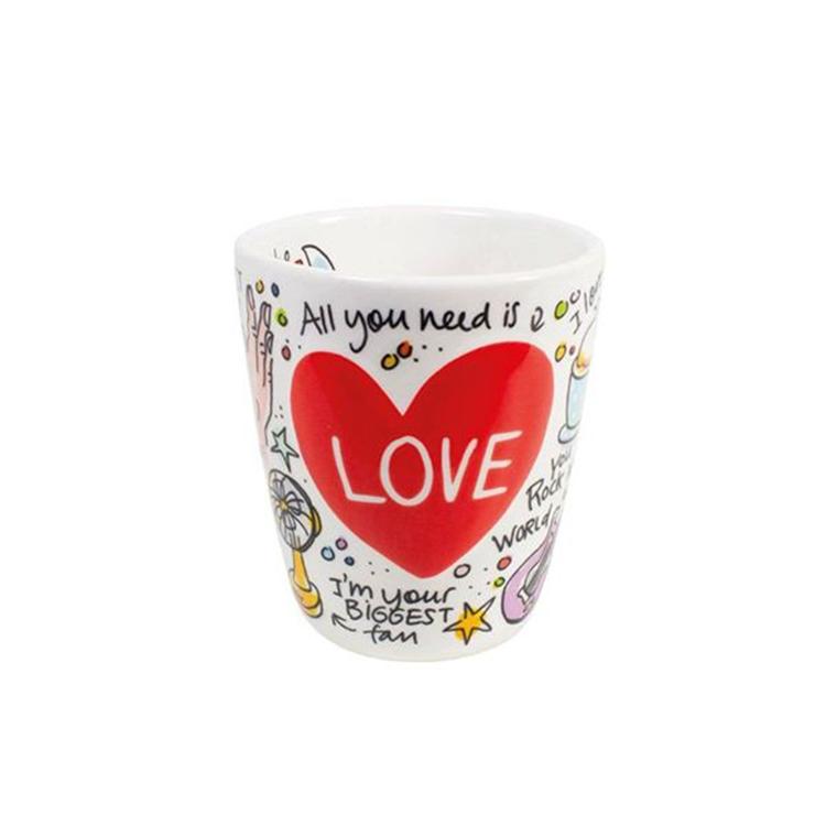 Blond Amsterdam 3D Heart Beker Love Valentijn - 350 ml