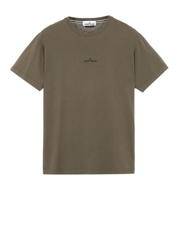 Stone Island 2NS85 Marble Three Shirt in Olive Green (D. Groen)