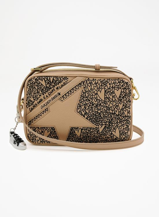 Golden Goose star bag nude/black hearts