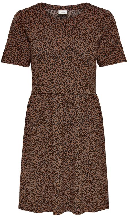 JDYKIRKBY S/S SHORT DRESS JRS Rustic Brown MINI LEO