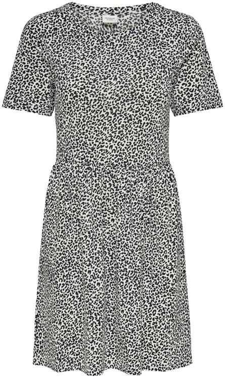 JDYKIRKBY S/S SHORT DRESS JRS Cloud Dancer MINI LEO