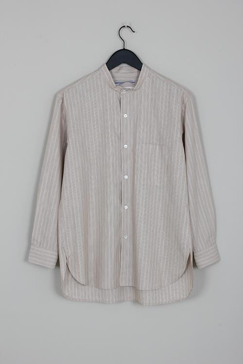 Cristaseya mao shirt brown stripes