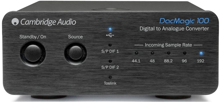 Cambridge Audio DacMagic 100 Digital to Analogue Converter Zwart