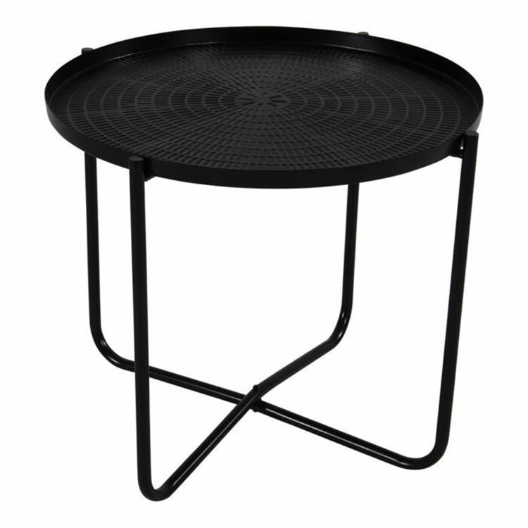 Lesli Living bijzettafel Ø40,5x35 cm - zwart