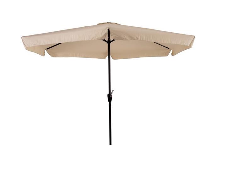 Lesli Living parasol Gemini met volant Ø3 meter - ecru