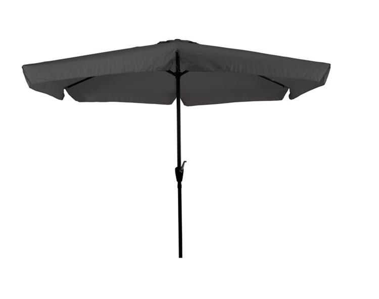 Lesli Living parasol Gemini met volant Ø3 meter - grijs