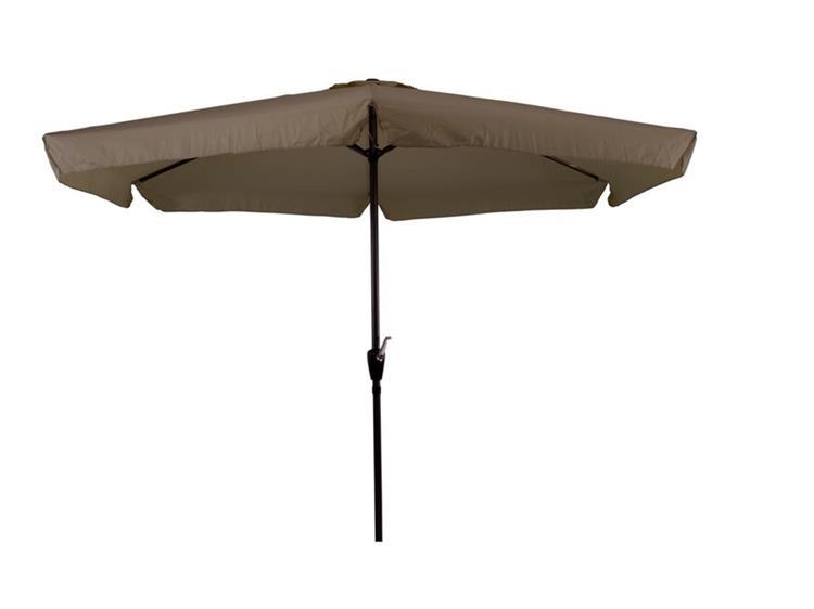 Lesli Living parasol Gemini met volant Ø3 meter - taupe