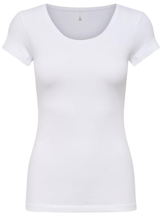 OnlLIVE LOVE NEW SS O-NECK TOP White