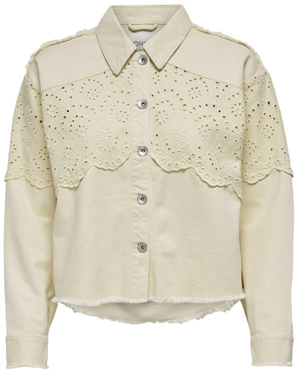 Onlelena life crochet jacket otw Moonbeam