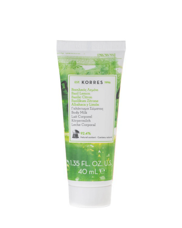 Korres - Basil Lemon Body Milk - 40 ml