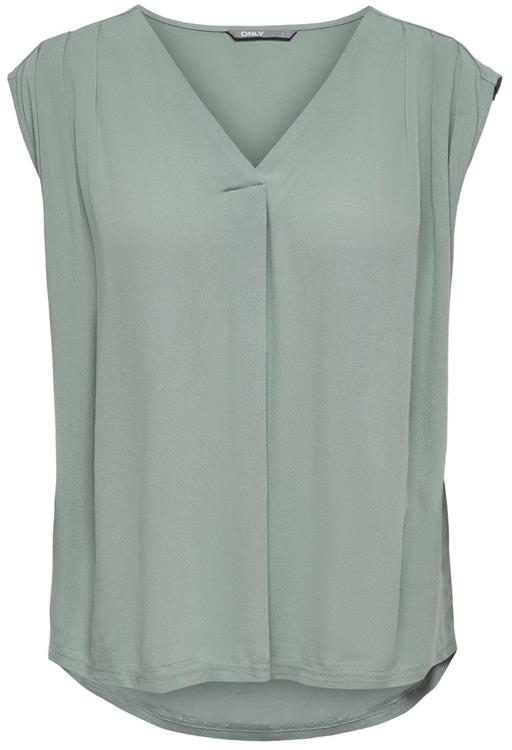 Onlroberta s/s v-neck top noos wvn Chinois Green
