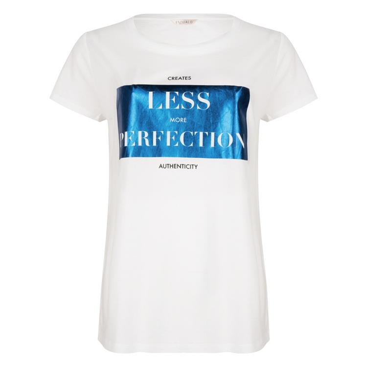 "T-shirt met ""Perfection"" folie opdruk"