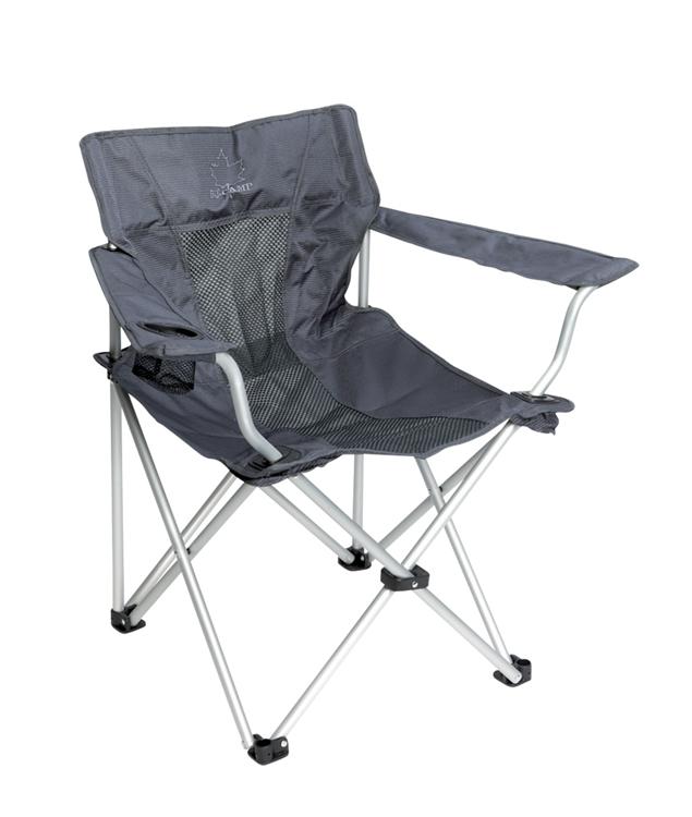 Bo camp vouwstoel deluxe classic grijs - Doek flanel personen ...