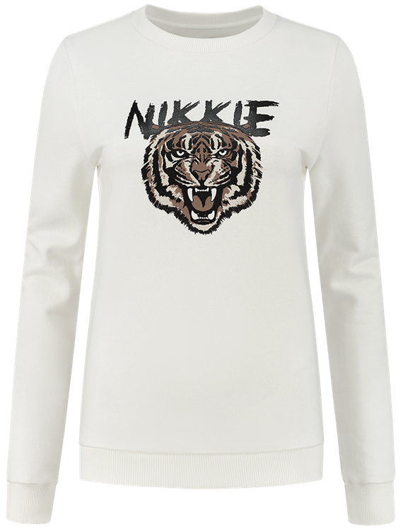 Nikkie Tiger Sweater Wit