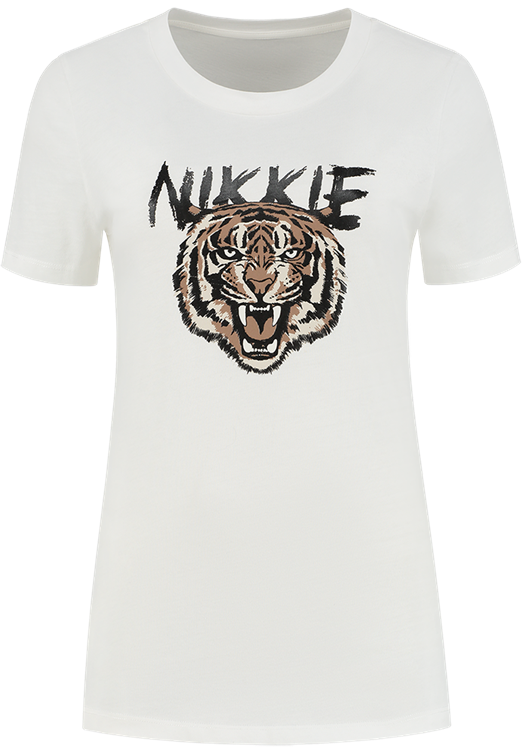 Nikkie Tiger T-Shirt Wit