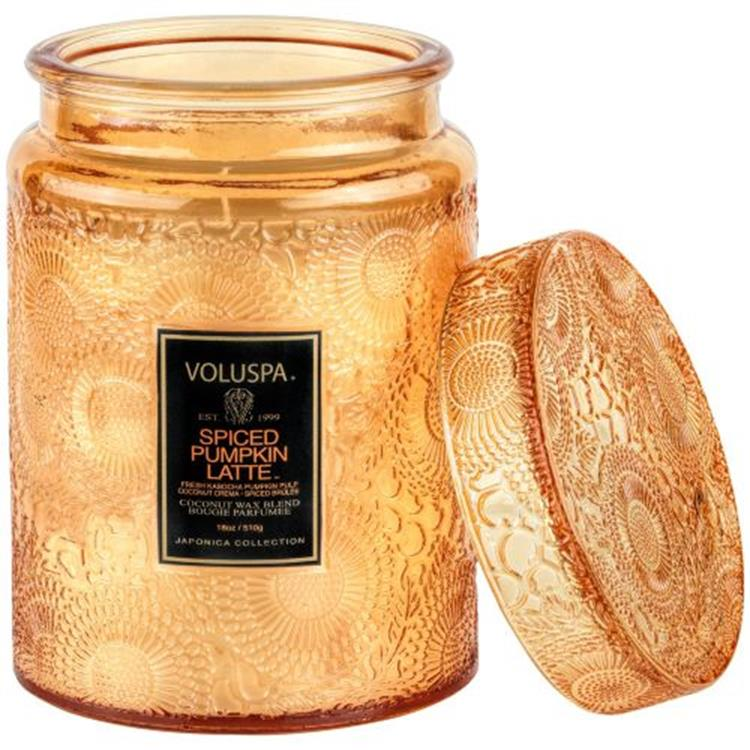 Voluspa Spiced Pumpkin latte Small jar candle