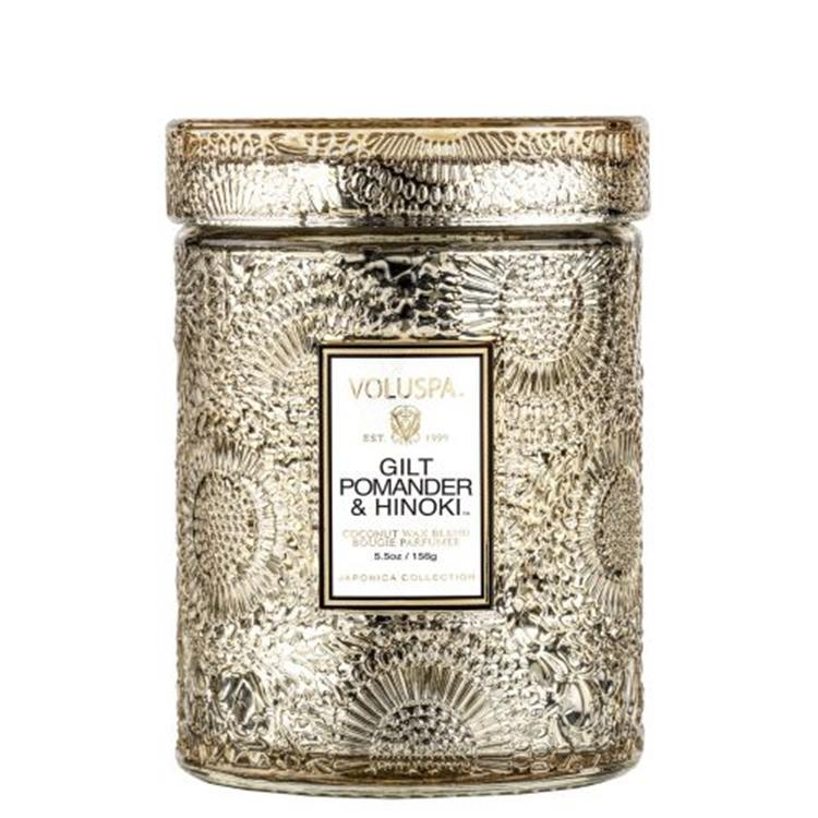 Voluspa Gilt Pomander&hinoki Small jar candle