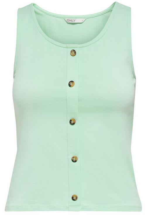 Onllivelove button detail cropped sl top Brook green