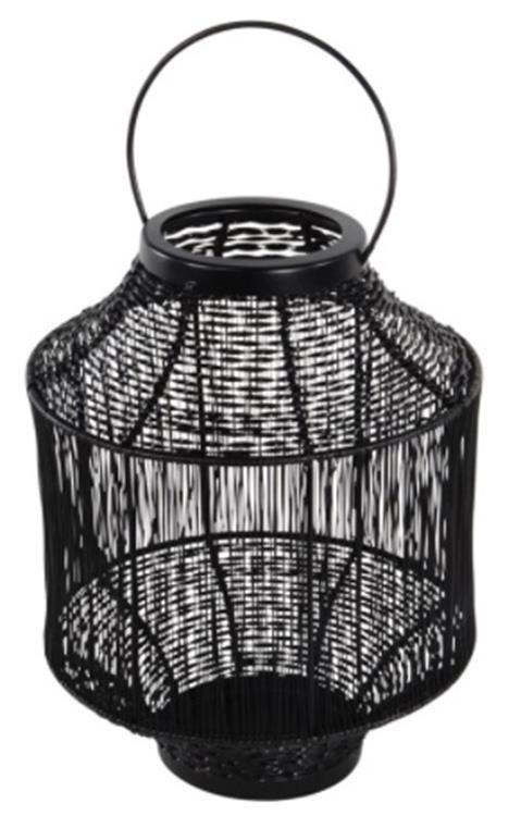 Lesli Living lantaarn Wire Ø20 cm - zwart