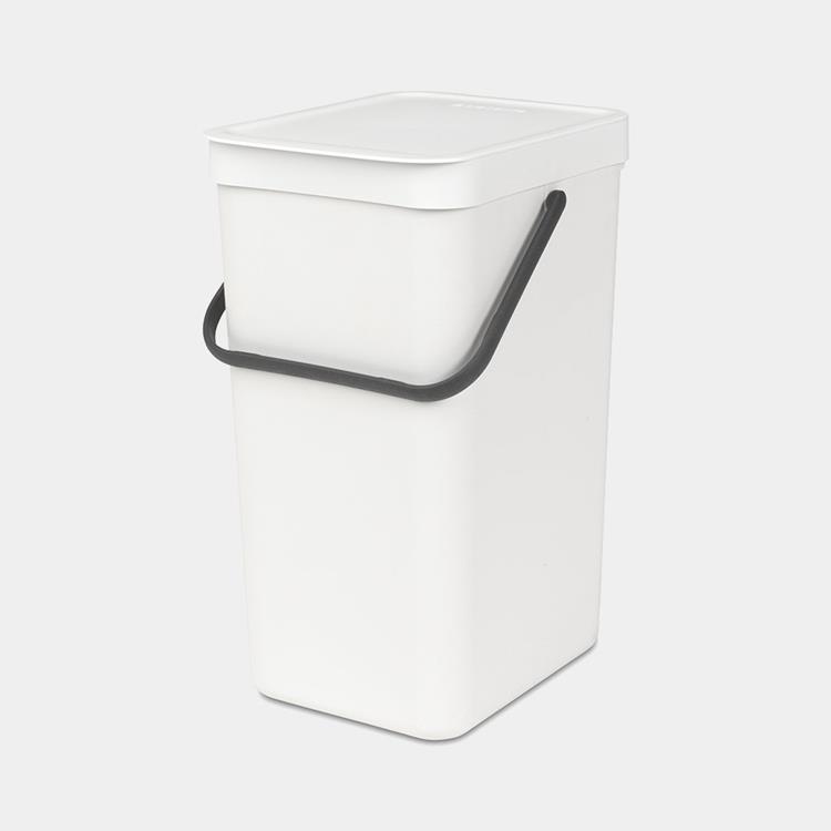 Brabantia Sort & Go afvalemmer 16 liter - wit
