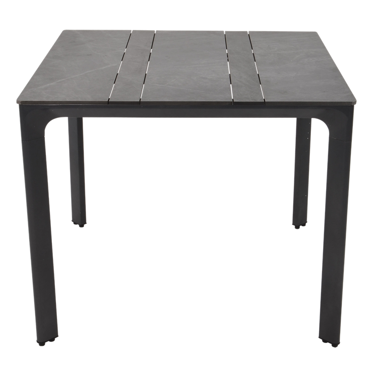 Lesli Living tafel Paros HPL 90x90 cm - antraciet