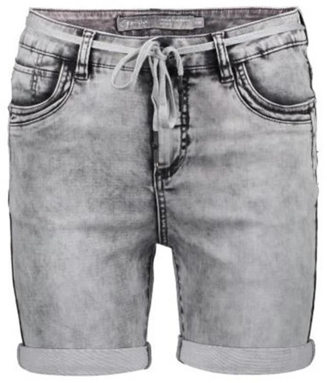 Geisha shorts with lace at waist Grey denim