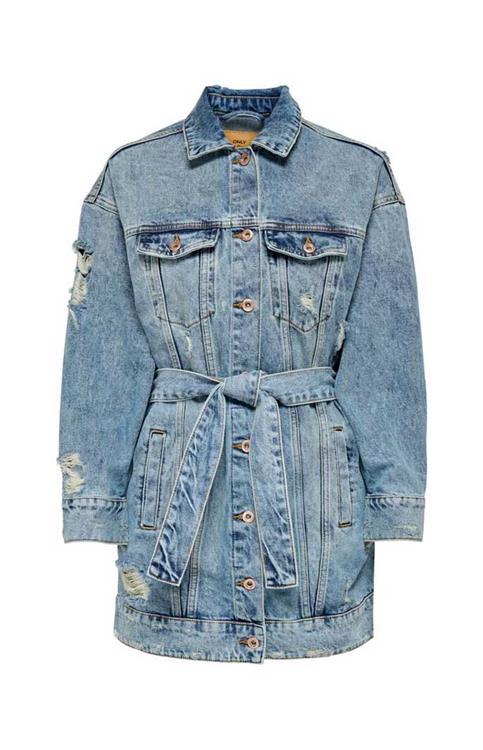 Only belted denim jacket 15227724
