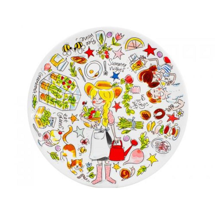 Blond Amsterdam Green Happiness dinerbord - 26 cm