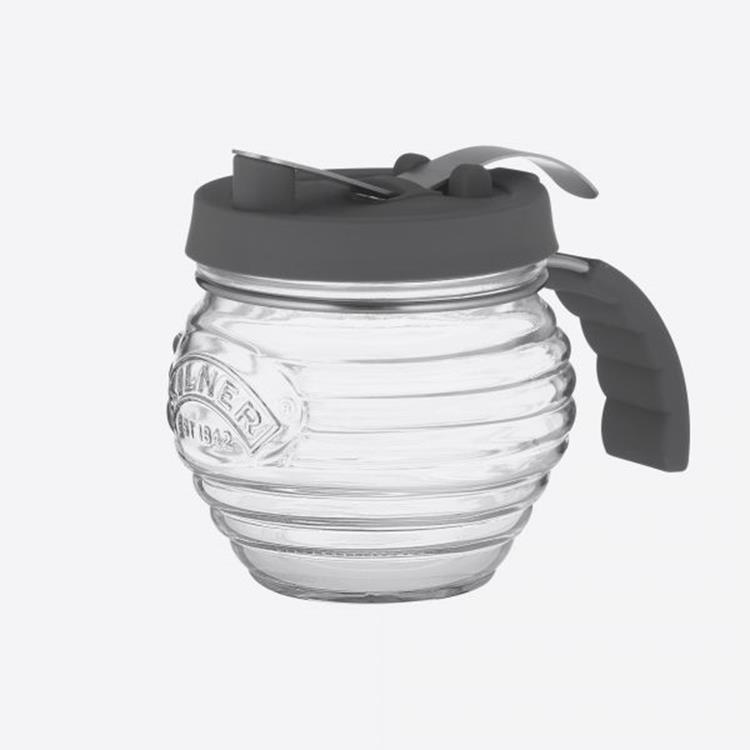 Kilner Siroopdispenser glas met silicone deksel - 400 ml