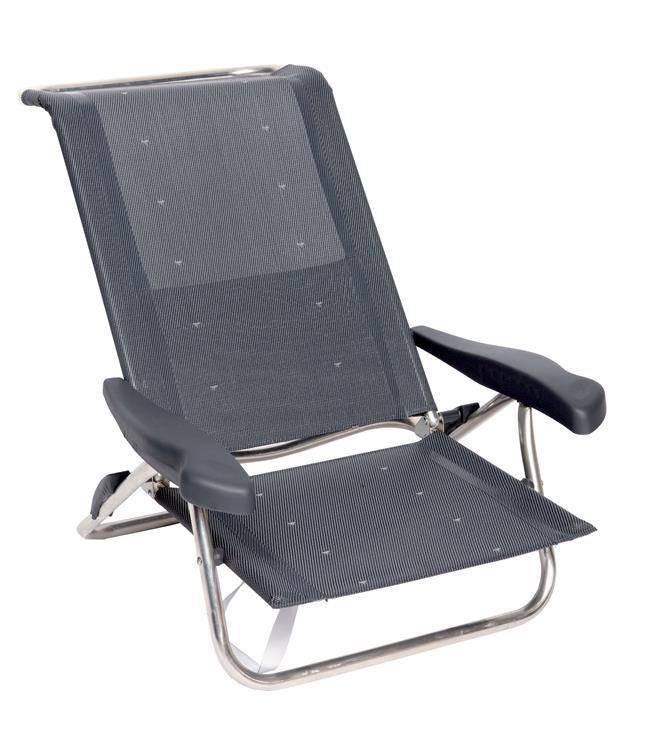 Verstelbare Lage Strandstoel.Crespo Al 222 Strandstoel Donkergrijs