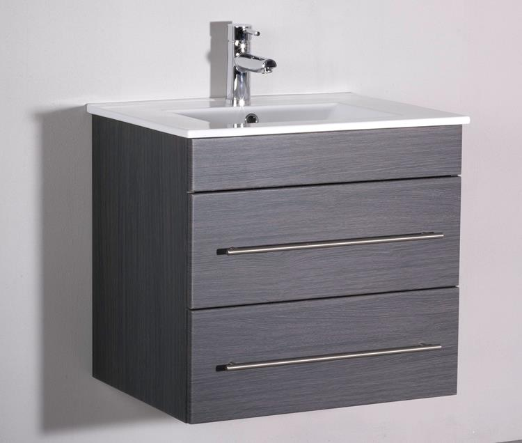 Badmeubel tulsa 60 cm grey oak luxe design en lage prijs for Spiegelkast 50 cm breed