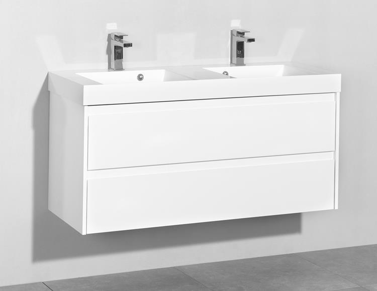 badmeubel proline kunstmarmer 120 cm wit. Black Bedroom Furniture Sets. Home Design Ideas