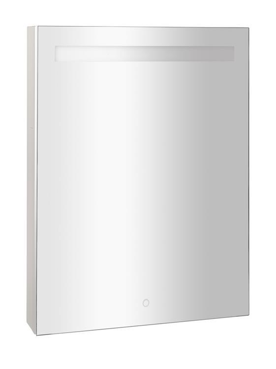 aluminium spiegelkast met led verlichting 60 cm