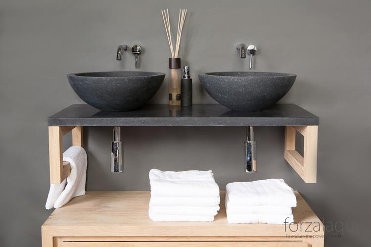 forzalaqua waskom roma 40 x 40 cm basalt. Black Bedroom Furniture Sets. Home Design Ideas
