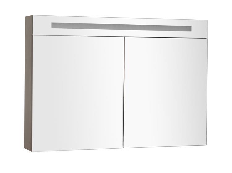 Spiegelkast met TL-Verlichting 120 cm Oak Grey