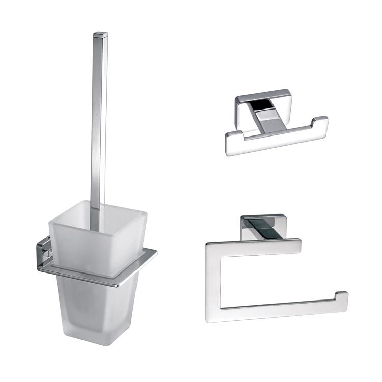 Toilet Accessory Set Vierkant