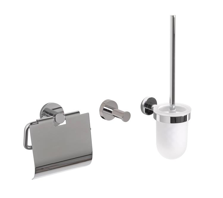 Toilet Accessory Set Chrome