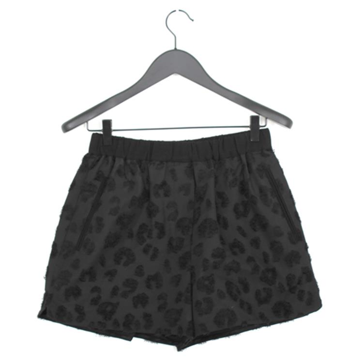 3.1 Phillip Lim smocked waist short black leopard
