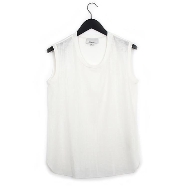 3.1 Phillip Lim embroidered muscle tee white