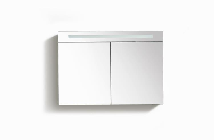 Spiegelkast met tl verlichting 80 cm licht eiken for Spiegelkast 80 cm