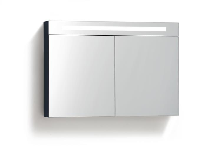 Spiegelkast Badkamer 80 Cm.Spiegelkast Met Tl Verlichting 80 Cm Antraciet