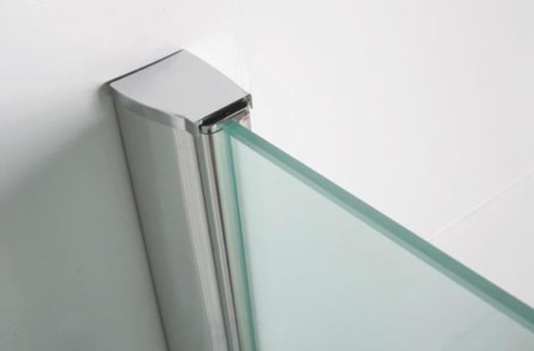 Douchewand Glas 90 Cm.Wiesbaden Inloop Douchewand 90 Cm