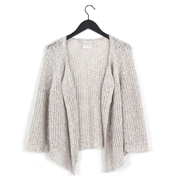 Forte Forte linen cotton tweed cardigan naturale
