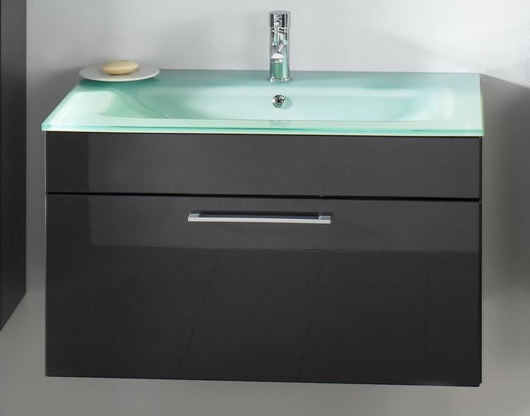 Badkamermeubel 90 Cm : Posseik badmeubel heron groen glas cm antraciet