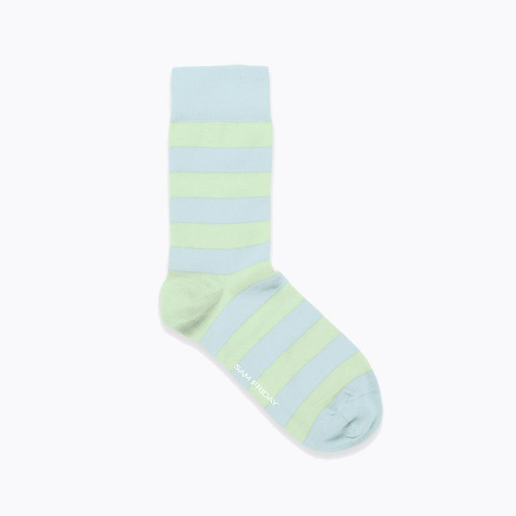 Socks Sky Mint Stripe