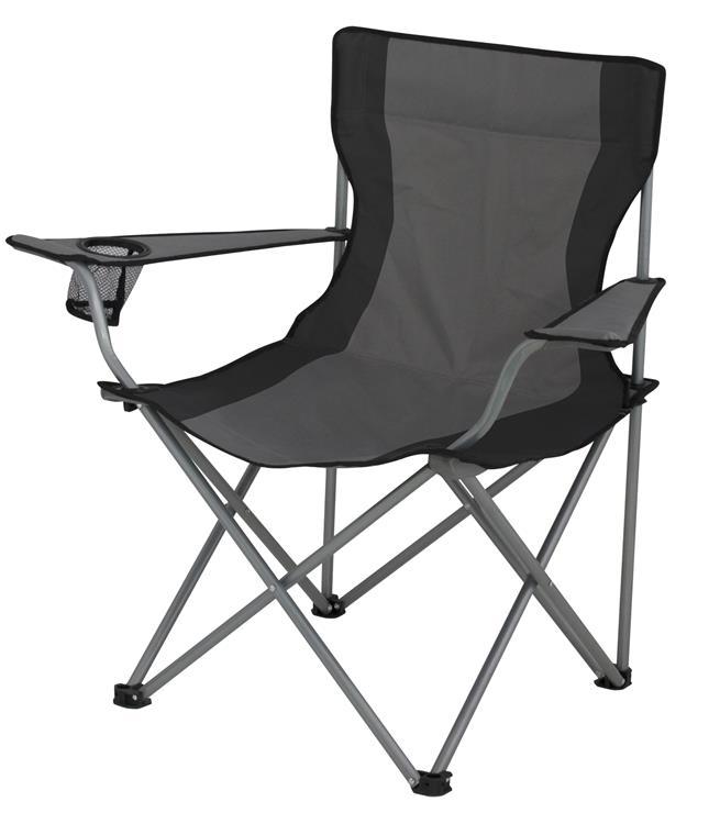 Eurotrail campingstoel lausanne grijs zwart - Doek flanel personen ...