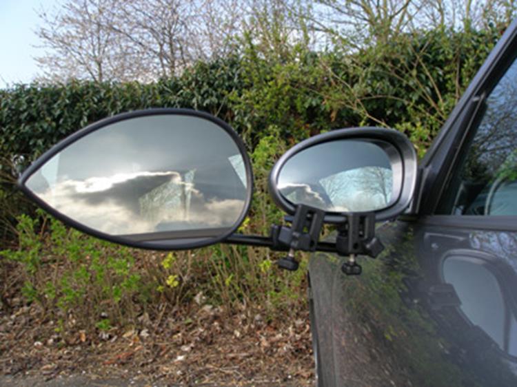 caravanspiegels, opzetspiegels, Milenco, vlakke spiegel, spiegel